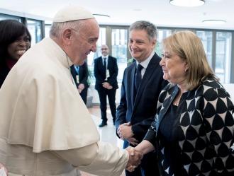 """Malcorra afirmó que la reunión con el Papa fue """"muy buena y enriquecedora"""""""