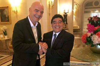 Maradona dijo que Infantino le pidió que sea veedor de la FIFA en la Súper Liga
