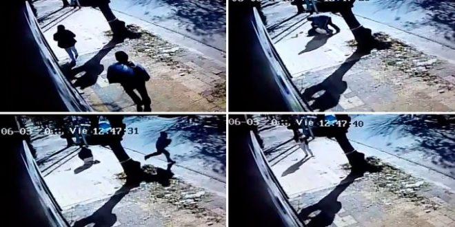 Video: Intentan robarle su bebe en plena vía pública