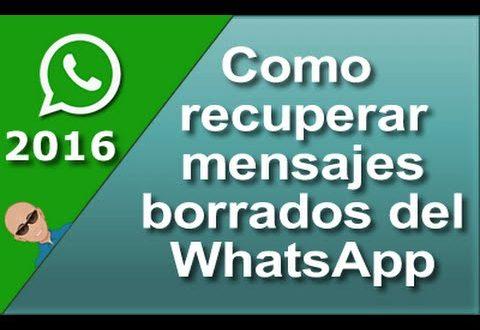 Como recuperar fotos y mensajes borrados de WhatsApp