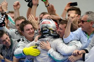 Imparable: Hamilton ganó en Alemania la sexta carrera de la temporada