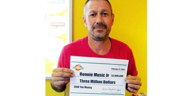 Invirtió en drogas los US$3 millones que ganó en la lotería