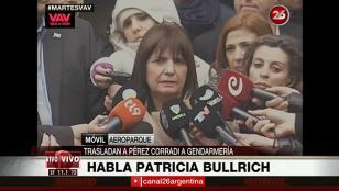 """Bullrich: """"No se entregó, a Pérez Corradi lo agarramos"""""""