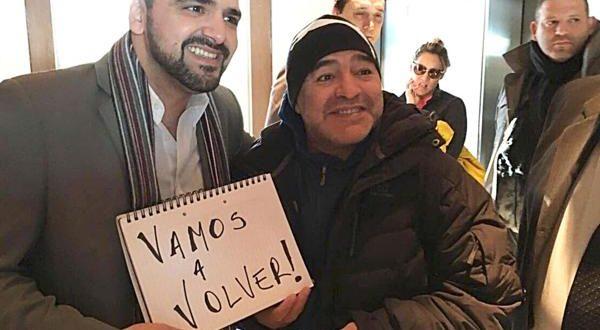 """Maradona : """"Vamos a volver con Cristina y recuperaremos las Malvinas"""""""