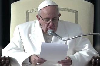 Por videomensaje, el Papa pidió paz y un gobierno de unidad nacional en Siria
