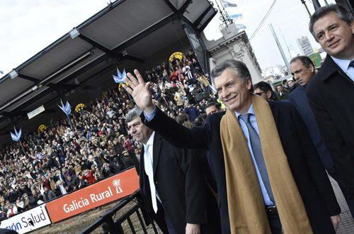 """Macri en La Rural: """"le tendemos la mano al campo"""""""