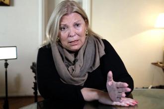 """Di Lello dispuso un """"fuerte refuerzo"""" de la custodia personal de Elisa Carrió"""