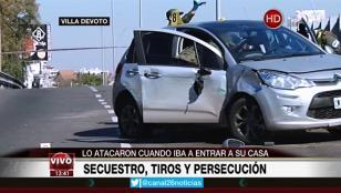 Inseguridad en Villa Devoto: robo, secuestro y tiroteo