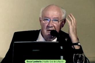 Lamberto :Hay que fortalecer los organismos de control