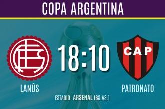 Lanús y Patronato juegan hoy por la Copa Argentina