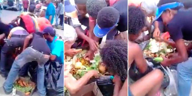 Los venezolanos comiendo de la basura: El resultado del chavismo kirchnerista