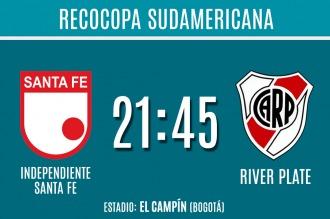 River se enfrenta con Independiente Santa Fe por la final de la Recopa