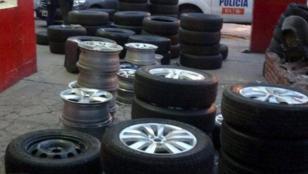 Se roban 260 ruedas de vehículos por día