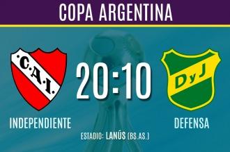 Independiente enfrenta a Defensa y Justicia por la Copa Argentina