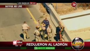 Los Ángeles: persecución policial logra reducir a ladrón