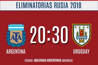 Argentina, con el debut de Bauza y la presencia de Messi, enfrenta a Uruguay