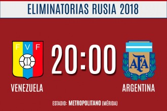 Argentina defiende la punta de las eliminatorias en Venezuela