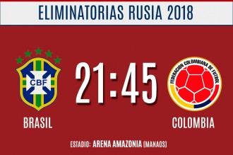 Brasil se enfrenta a Colombia