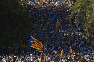 Cataluña se moviliza masivamente