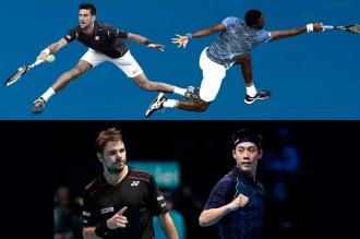 Djokovic frente a Monfils y Wawrinka con Nishikori, las semifinales del US Open