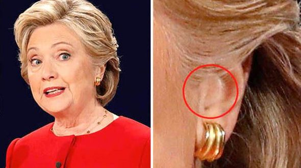 Dicen que Hillary Clinton usó un auricular durante el debate con Trump