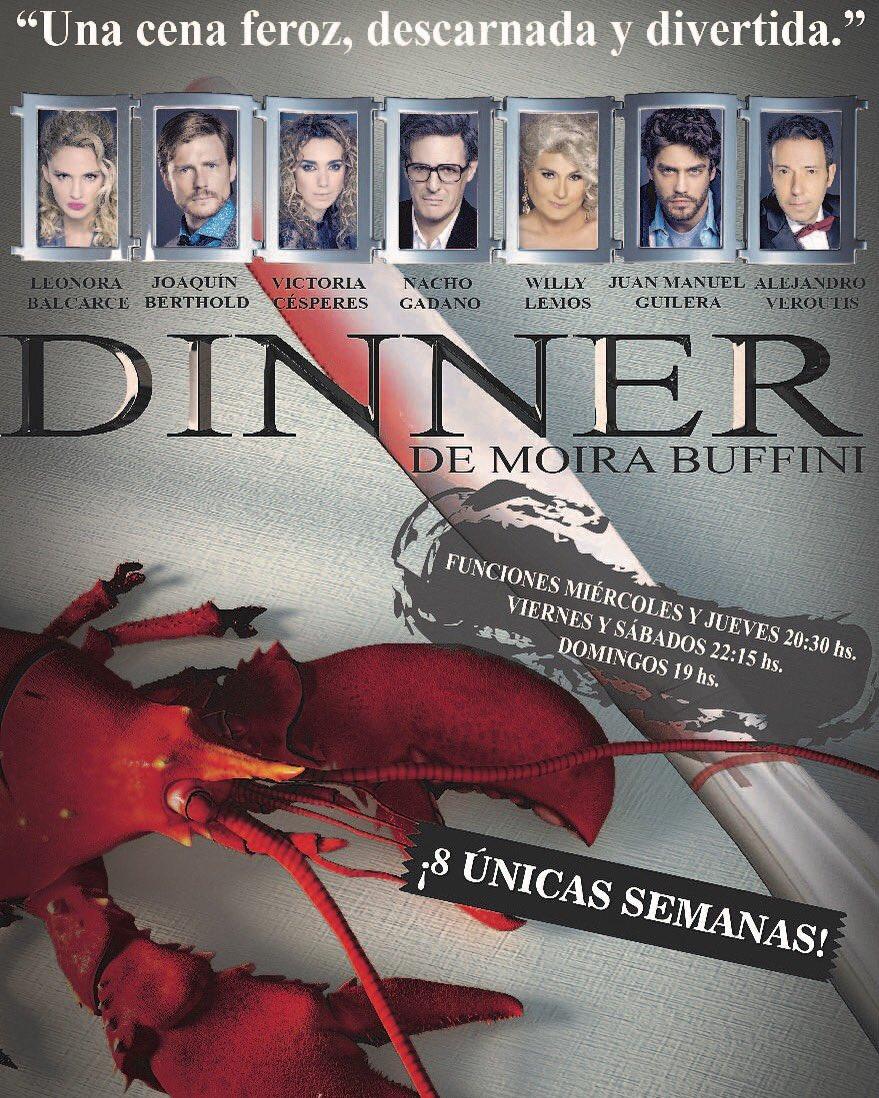 """""""DINNER""""  LA COMEDIA NEGRA LONDINENSE  ESCRITA POR MOIRA BUFFINI  YA LLEGÓ A LA ARGENTINA"""