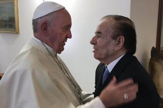 Menem: Tuve una reunión excelente con el Papa