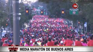 Miles de personas corrieron el medio maratón de Buenos Aires