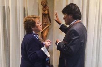 Morales invitó a Bachelet a visitar juntos un sector fronterizo en disputa