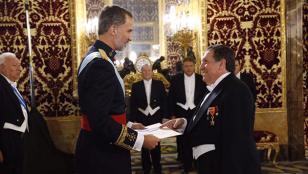 Puerta fue recibido como embajador por el Rey de España