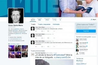 Santa María denunció que hackearon su Twitter y desmintió la renuncia