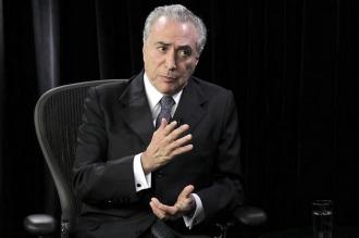 Temer negó que se vayan a paralizar las investigaciones por corrupción en su gestión