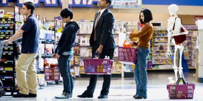 Cómo elegir la fila más rápida en el súpermercado