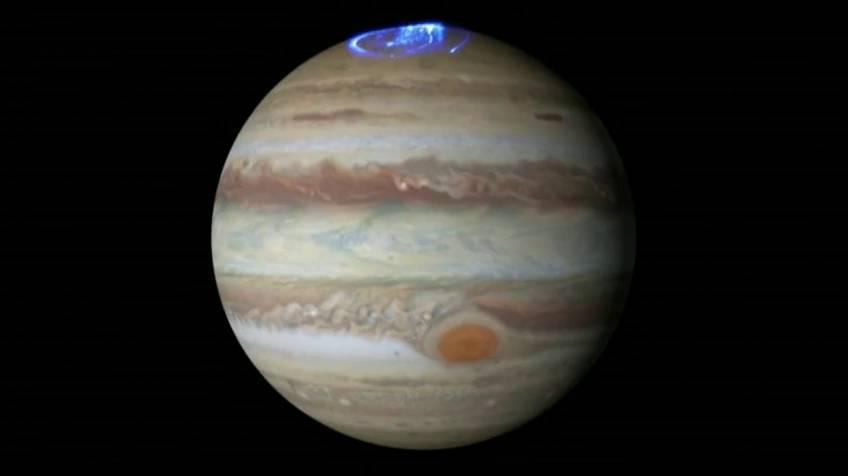 Imágenes inéditas de los polos de Júpiter
