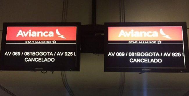 Avianca cancela todos los vuelos desde y hacia Venezuela después de que dos cazas de combate venezolanos interceptaran un avión