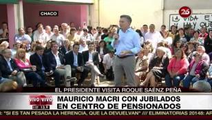 Macri con jubilados: Se puede vivir mejor en Argentina