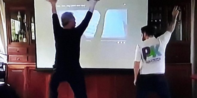 Video imperdible : Ottavis ensayando el baile para el teatro