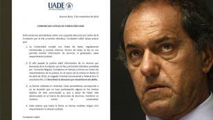 Comunicado de la UADE sobre el titulo otorgado a Daniel Scioli: comunicado de la UADE