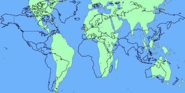 El mapa del planeta que todos usamos en la escuela y aparece en los Atlas... no es correcto