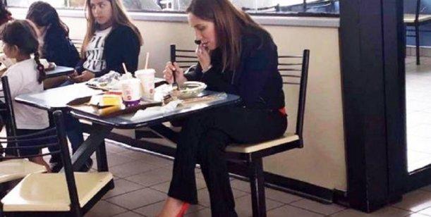 La foto de María Eugenia Vidal en un McDonald's que se volvió viral