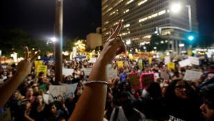 Tercer día de protestas antiTrump