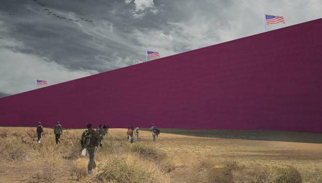 Así se vería el muro que quiere construir Trump según un estudio de arquitectura de México
