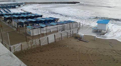 Cada vez hay menos playa en Mar del Plata