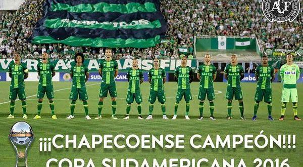 La Conmebol proclamó campeón al Chapecoense de la Copa Sudamericana 2016