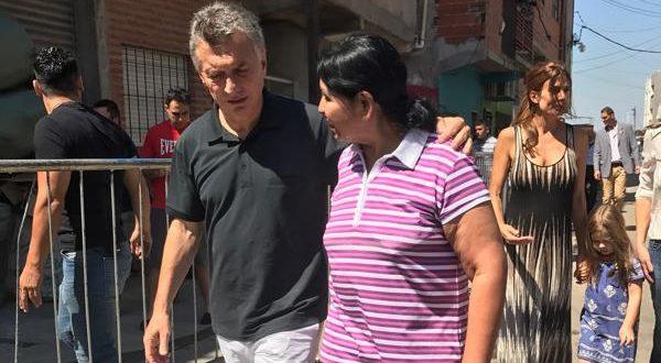 Macri visitó el comedor de Margarita Barrientos antes de noche buena