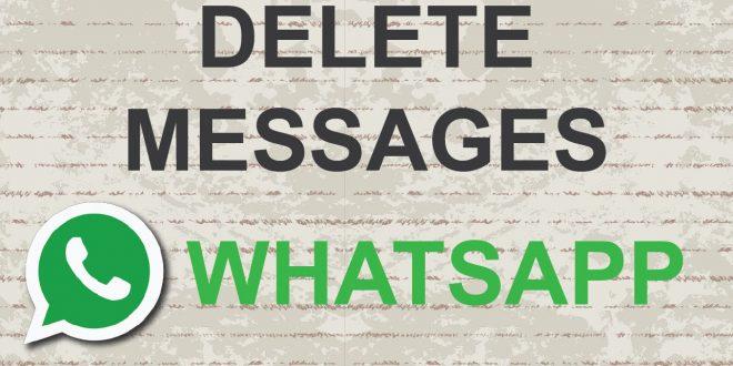 Como borrar los mensajes enviados en WhatsApp