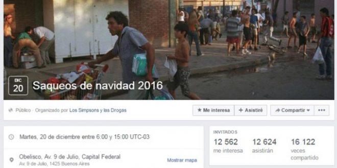 Grupo de Facebook incita a saquear comercios en esta Navidad