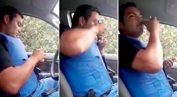 Suspendieron a la mujer policía que filmó a su compañero consumiendo cocaína en el patrullero