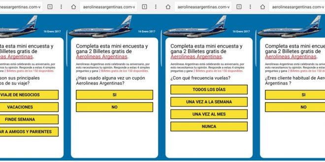 Estafa por Whatsapp con Aerolineas Argentinas
