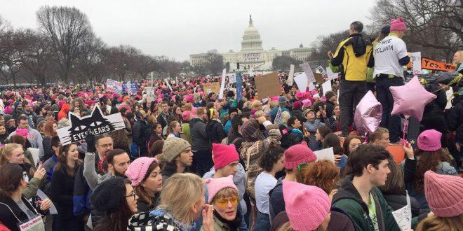 Video en vivo : Multutdinaria marcha de protesta contra Trump frente al Capitolio